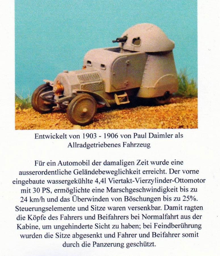Germania-WW1-001-Austro-Daimler-Panzerwagen-Beschreibung Der Austro-Daimler Panzerwagen des österreichischen Heeres im Maßstab 1:72