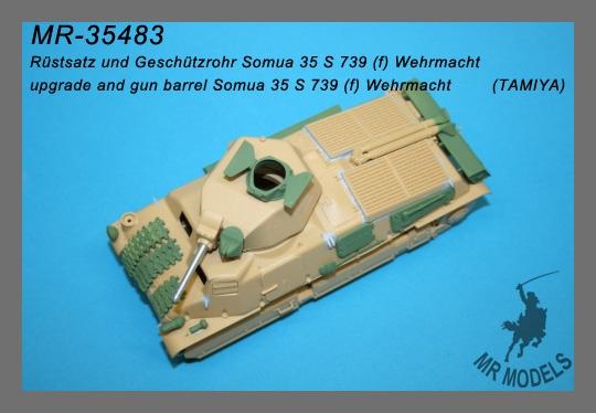 773_0 Umbauset SOMUA S35 Beutepanzer von Matthias Roth Modellbau 1:35