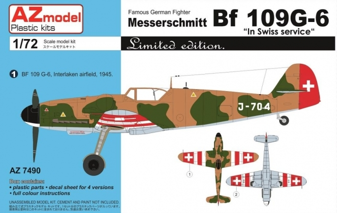 AZ-Model-7490-Bf-109-in-Swiss-Service Bf 109 G Swiss Air Force von AZ Model
