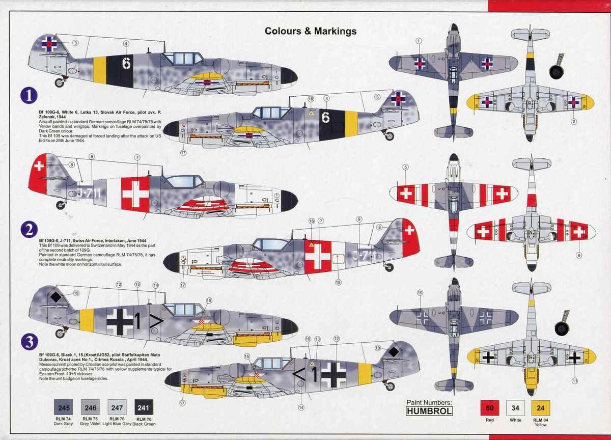AZ-Model-Bf-109-G-6-19 Messerschmitt Bf 109 G-6 von AZ Model im Maßstab 1:72