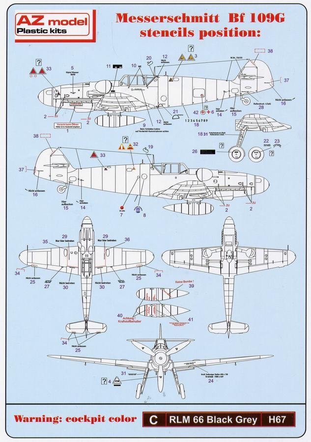 AZ-Model-Bf-109-G-6-21 Messerschmitt Bf 109 G-6 von AZ Model im Maßstab 1:72