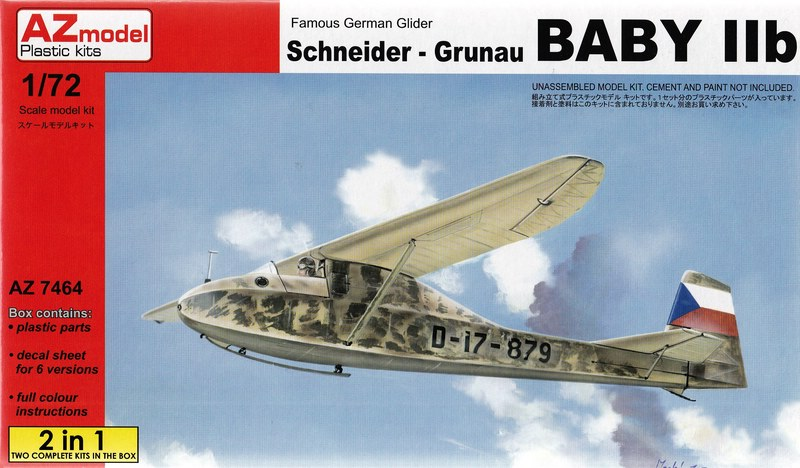 AZ-Model-SG-Baby-IIb-9 Grunau Baby IIb von AZ Model in 1:72