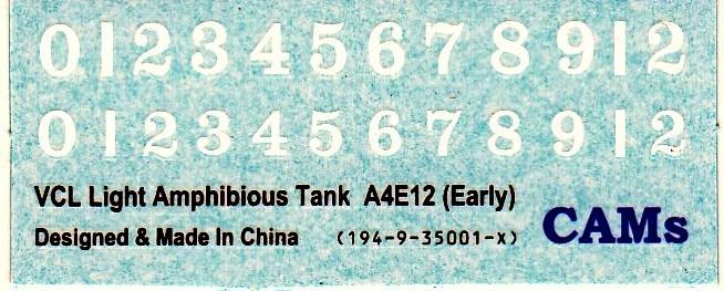CAMs-VCL-A4E12-16 VCL Schwimmpanzer A4E12 von CAMs (Maßstab 1:35)
