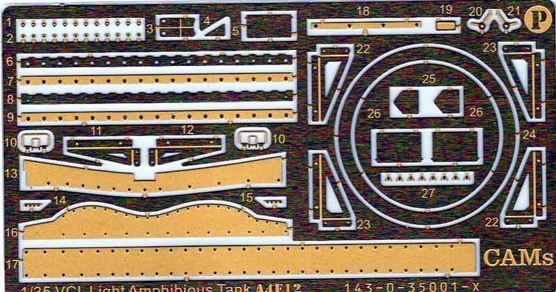 CAMs-VCL-A4E12-18 VCL Schwimmpanzer A4E12 von CAMs (Maßstab 1:35)