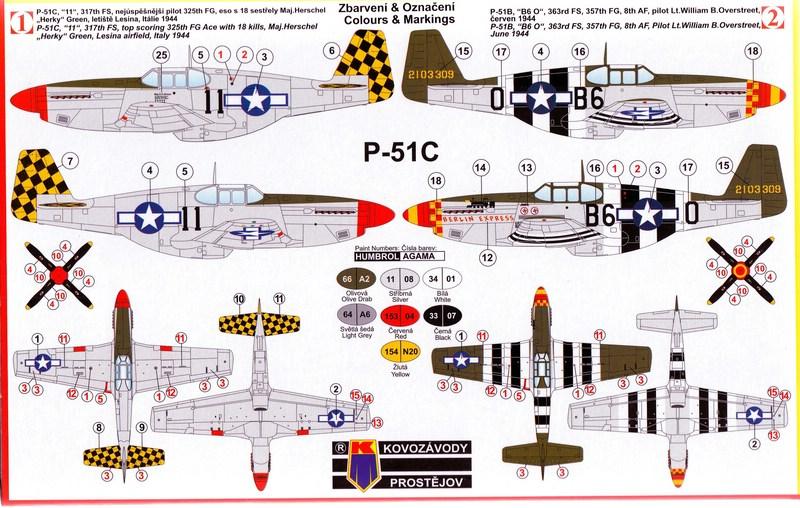 KPM-0033-P-51C-26 Eine neue Mustang im Maßstab 1:72 (Kovazávody Prostèjov KPM 0033)