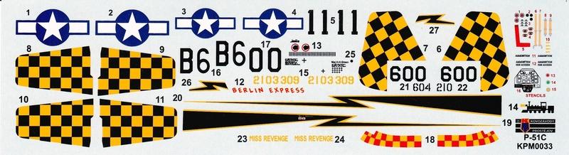 KPM-0033-P-51C-29 Eine neue Mustang im Maßstab 1:72 (Kovazávody Prostèjov KPM 0033)