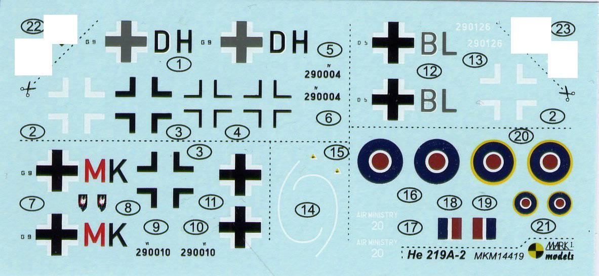 Mark-I-Models-He-219-A-2-2 Heinkel He 219 UHU von Mark I Models im Maßstab 1:144