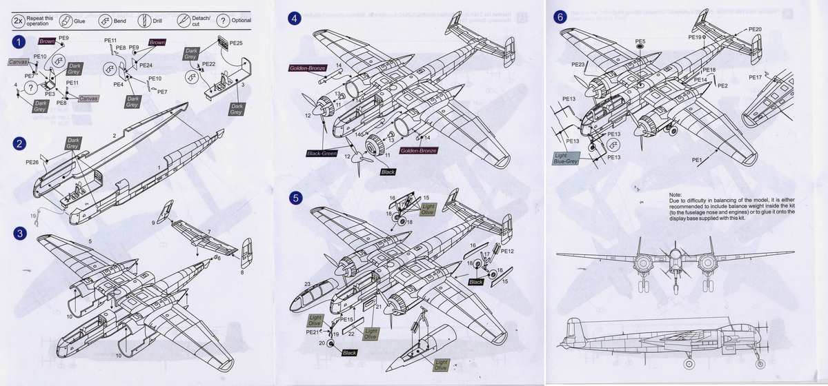 Mark-I-Models-He-219-Bauplan Heinkel He 219 UHU von Mark I Models im Maßstab 1:144
