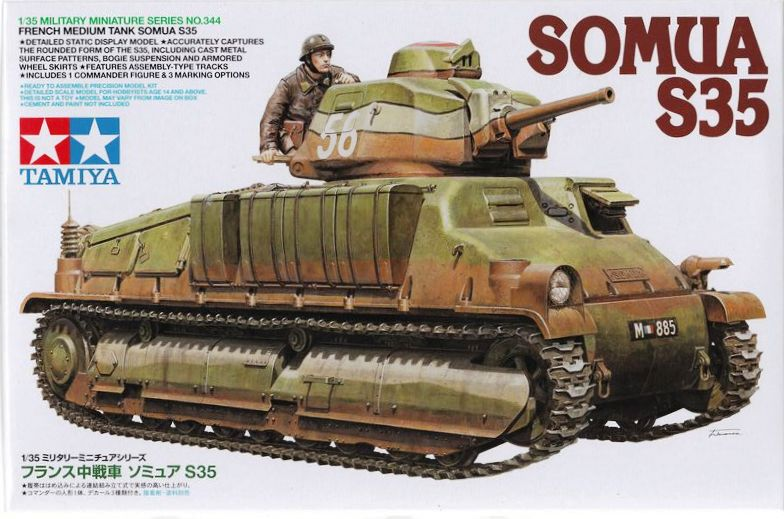 Tamiya-Somua-S-35-Deckelbild SOMUA S-35 von Tamiya im Maßstab 1:35