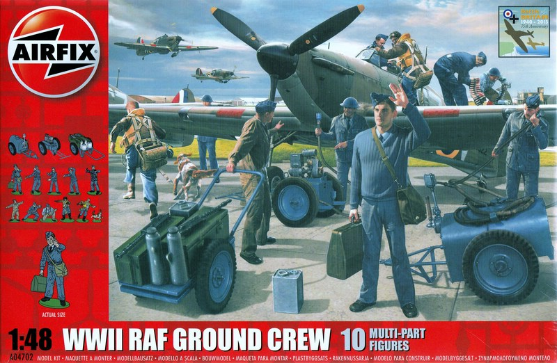 Airfix WW II RAF Ground Crew (5)