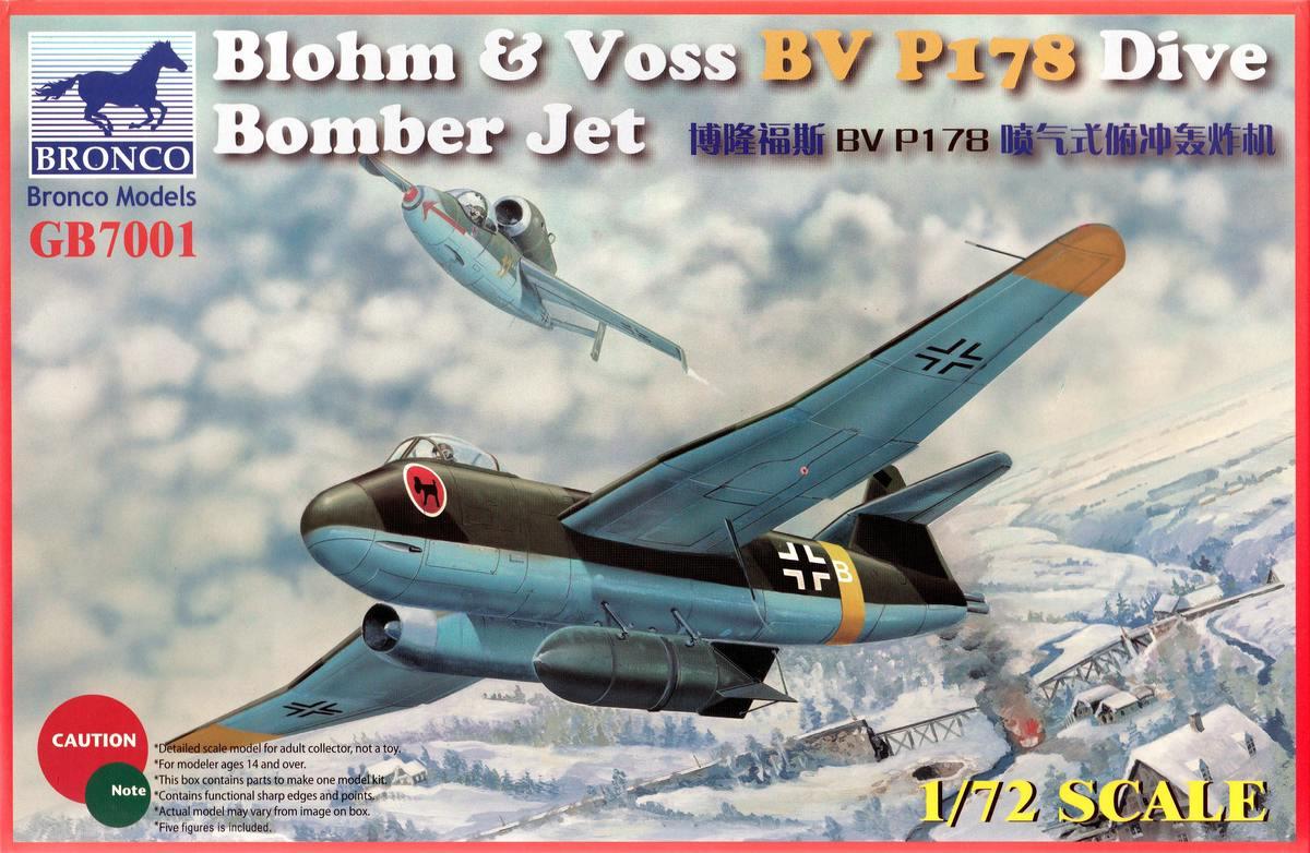 BRONCO-BV-P-178-Dive-Bomber-2 BV P 178 Dive Bomber von Bronco (1:72)