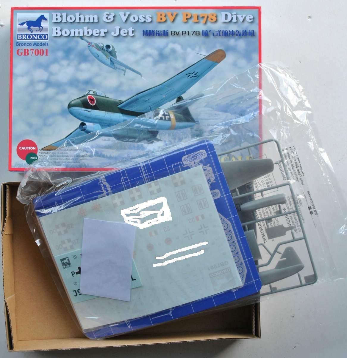 BRONCO-BV-P-178-Dive-Bomber-31 BV P 178 Dive Bomber von Bronco (1:72)
