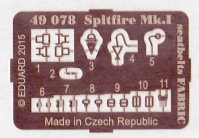 Eduard-49078-Spitfire-Mk.-I-Seatbelts-FABRIC-2 Eduard-Zubehör für die Spitfire Mk. I von Airfix im Maßstab 1:48