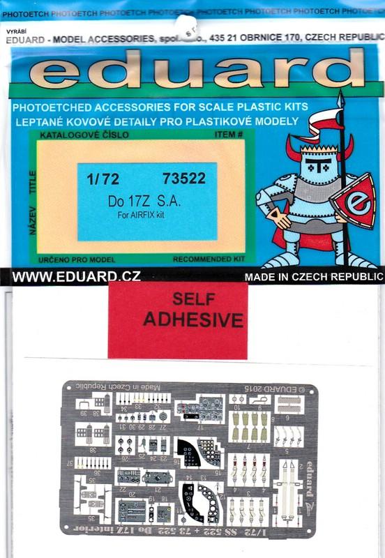 Eduard-73522-Do-17Z-1 EDUARD Zubehör für die Dornier Do 17Z von Airfix (1:72)