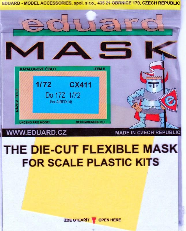 Eduard-CX-411-Do-17-Masken-2 EDUARD Zubehör für die Dornier Do 17Z von Airfix (1:72)