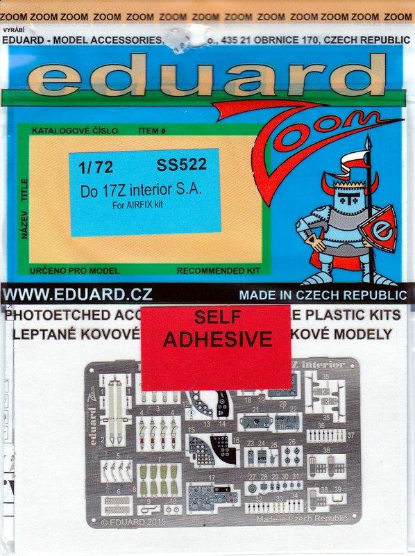Eduard-SS522-Do-17-ZOOM EDUARD Zubehör für die Dornier Do 17Z von Airfix (1:72)