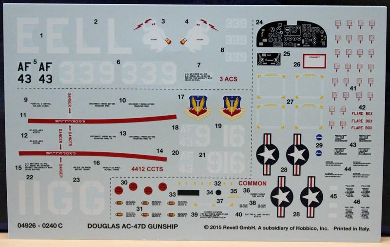 Revell-AC-47D-5 Douglas AC-47D Gunship von Revell im Maßstab 1:48