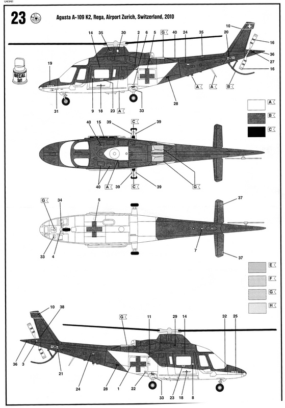 Revell-Augusta-A-109-REGA-15 Rettungshubschrauber Augusta A-109K2 der REGA (Revell 1:72)