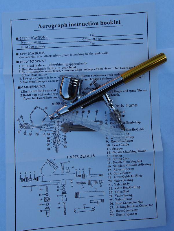 Airbrush-BD-2 Günstige Airbrush mit 0,3mm Düse