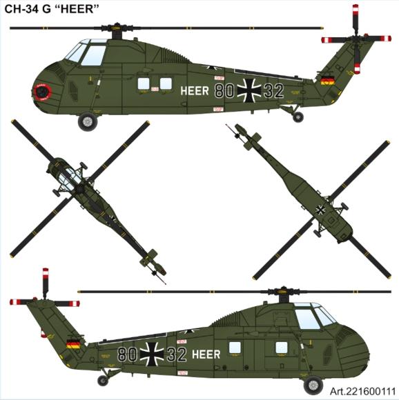 Airpower87-Decalbogen-H-34-2 Neuheiten von ArsenalM / Airpower87 in 1:87