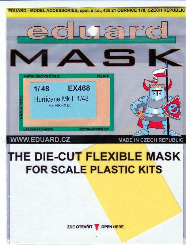 EDuard-EX-468-Hurricane-Mk.-I-Masken-1 Zubehörsets für die Hurricane von Airfix im Maßstab 1:48