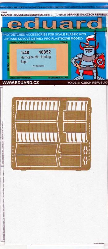 Eduard-48852-Hurricane-Mk.-I-landing-flaps-1 Zubehörsets für die Hurricane von Airfix im Maßstab 1:48