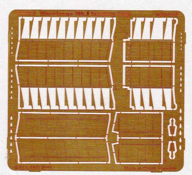 Eduard-48852-Hurricane-Mk.-I-landing-flaps-2 Zubehörsets für die Hurricane von Airfix im Maßstab 1:48