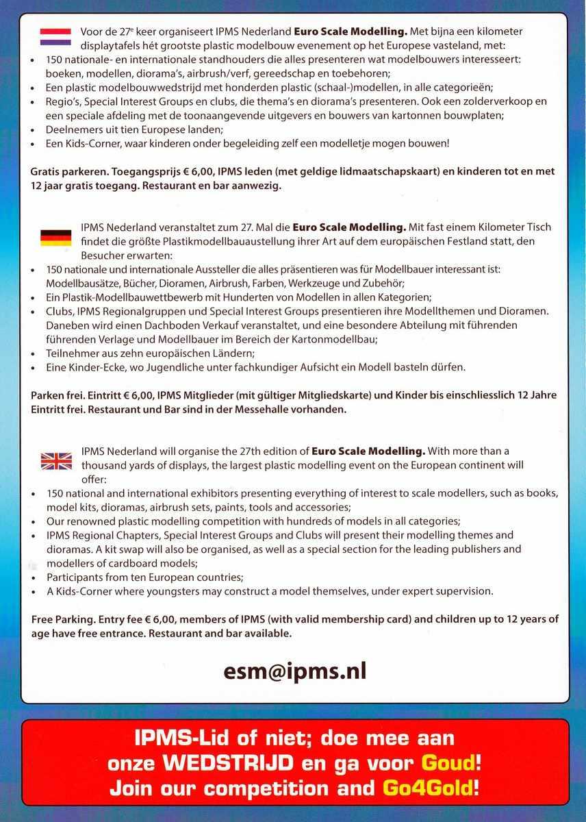 IPMS-NL-Info-Ausstellung-2015 IPMS Nederland Euro Scale Modelling 31. Oktober 2015