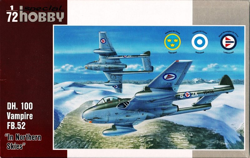 "SpecialHobby-Vampire-in-Northern-Skies-25 de Havilland Vampire FB.52 ""In Northern Skies (1:72 Special Hobby)"