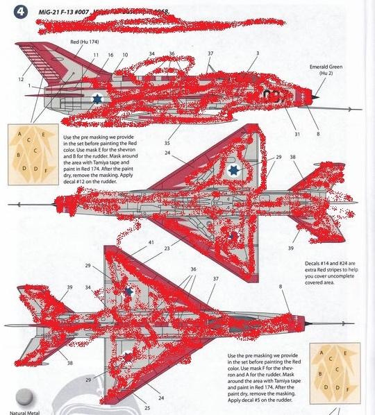 """Wingman-decal-WMD48007-MiG-21-F13-007-1 """"007"""" in Israel - die MiG-21 F13"""