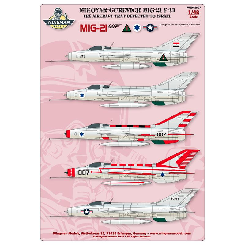 Wingman decal WMD48007MiG-21 F13 007 (1)