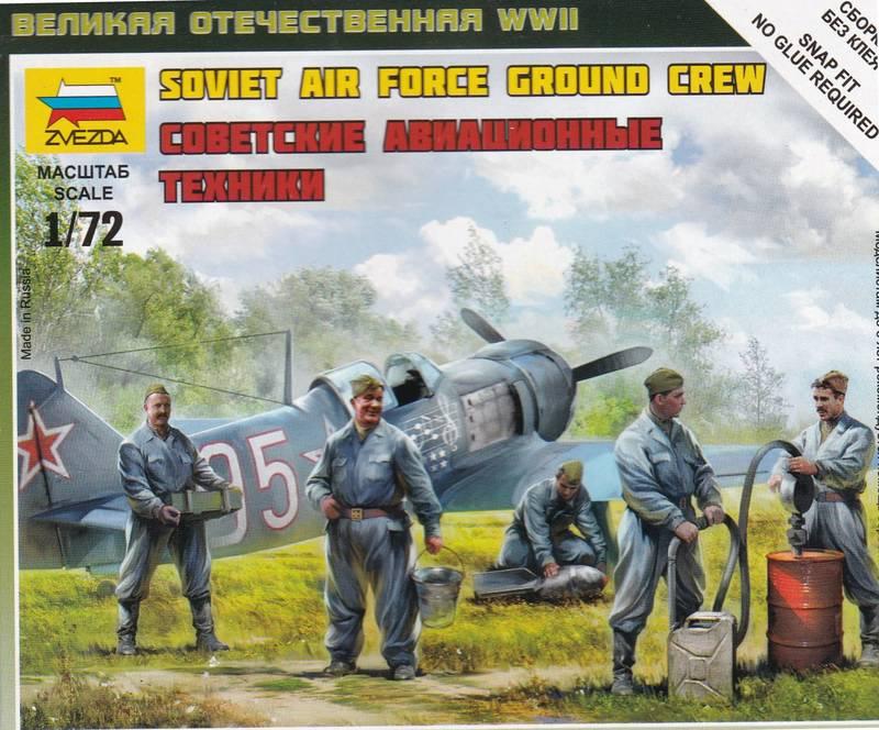 Zvezda-Soviet-Air-Force-ground-crew-5 Soviet Air Force ground crew von Zvezda im Maßstab 1:72
