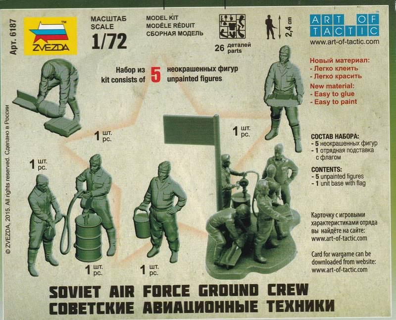 Zvezda-Soviet-Air-Force-ground-crew-6 Soviet Air Force ground crew von Zvezda im Maßstab 1:72