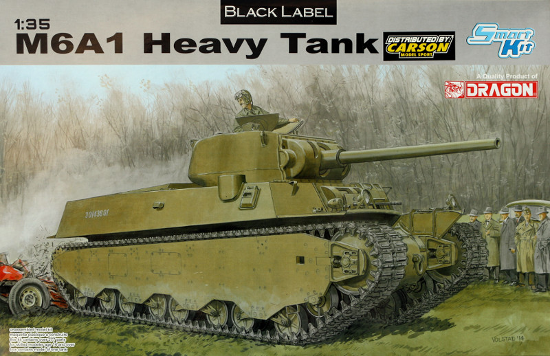 117 M6A1 Heavy Tank Dragon 1:35 (6789)