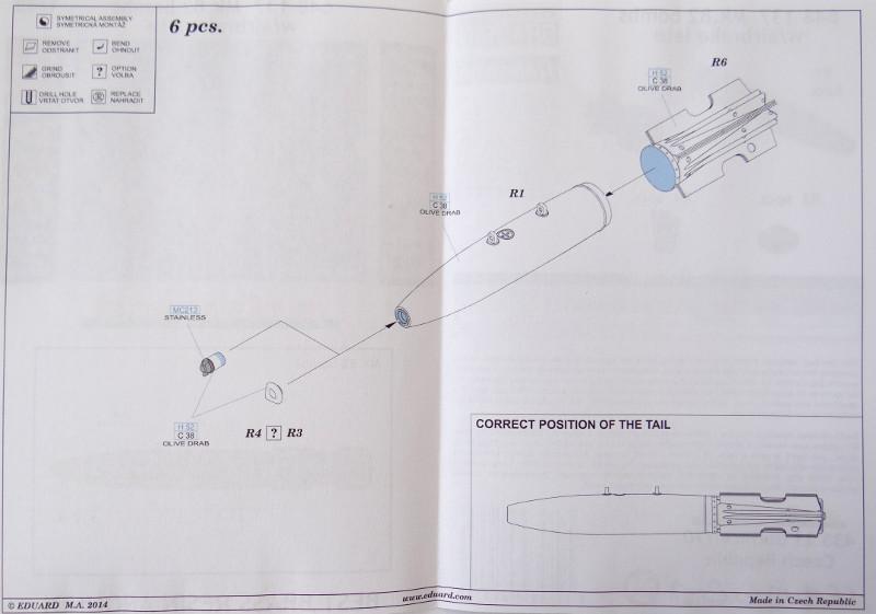 123 Aussenlasten für moderne US Jets von Eduard in 1:48