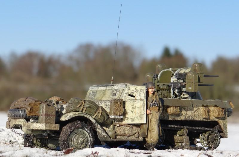 14 M16 Multiple Gun Motor Carriage in den Ardennen (Dragon 1:35)