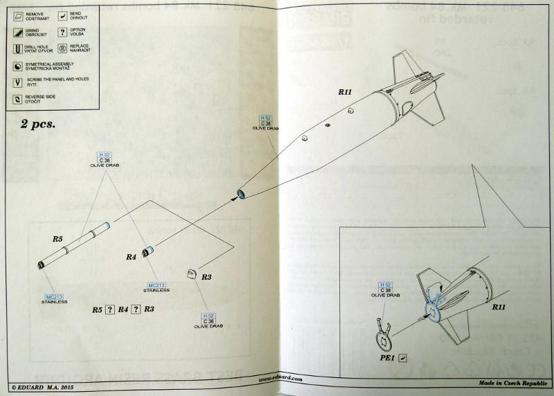 66 Aussenlasten für moderne US Jets von Eduard in 1:48
