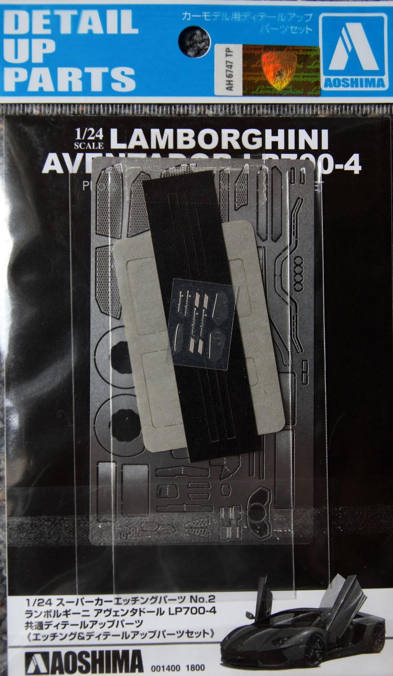 Aoshima Lamborghini Aventador Zurüstteile (1)