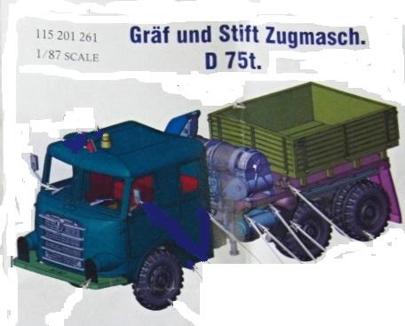 ArsenalM-Gräf-und-Stift-Zugmaschine Gräf & Stift Zugmaschine D 75t. (ZAFD 230/36/1) von ArsenalM im Maßstab 1:87