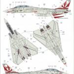 "B-150x150 ""Danger Zone"" F-14A Eduard 1:48"