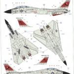 "C-150x150 ""Danger Zone"" F-14A Eduard 1:48"