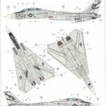 "D-150x150 ""Danger Zone"" F-14A Eduard 1:48"