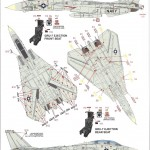 "Decals-150x150 ""Danger Zone"" F-14A Eduard 1:48"