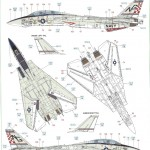 "E-150x150 ""Danger Zone"" F-14A Eduard 1:48"