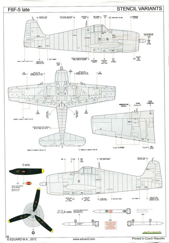 Eduard-8224-F6F-5-Hellcat-16 F6F-5 Hellcat late version von Eduard (ProfiPack # 8224)