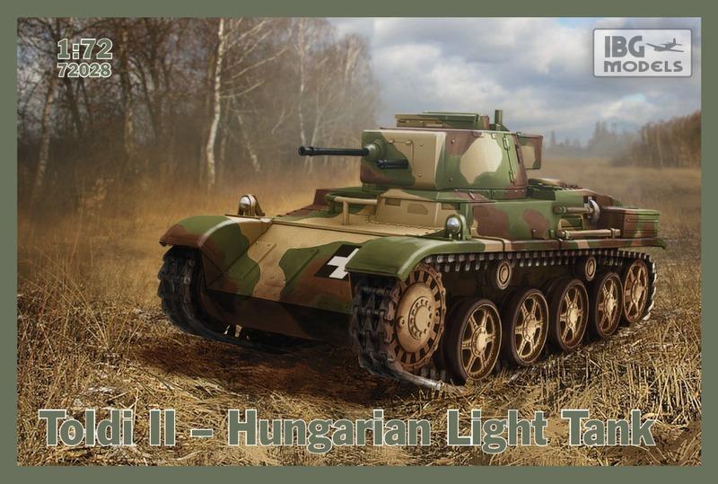 """IBG-72er-Toldi-II ungarischer Panzer """"Toldi"""" im Maßstab 1:72 von IBG"""