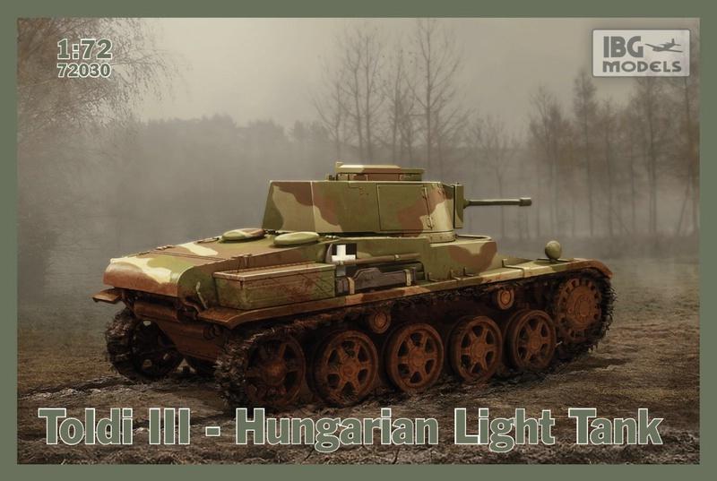 """IBG-72er-Toldi-III ungarischer Panzer """"Toldi"""" im Maßstab 1:72 von IBG"""