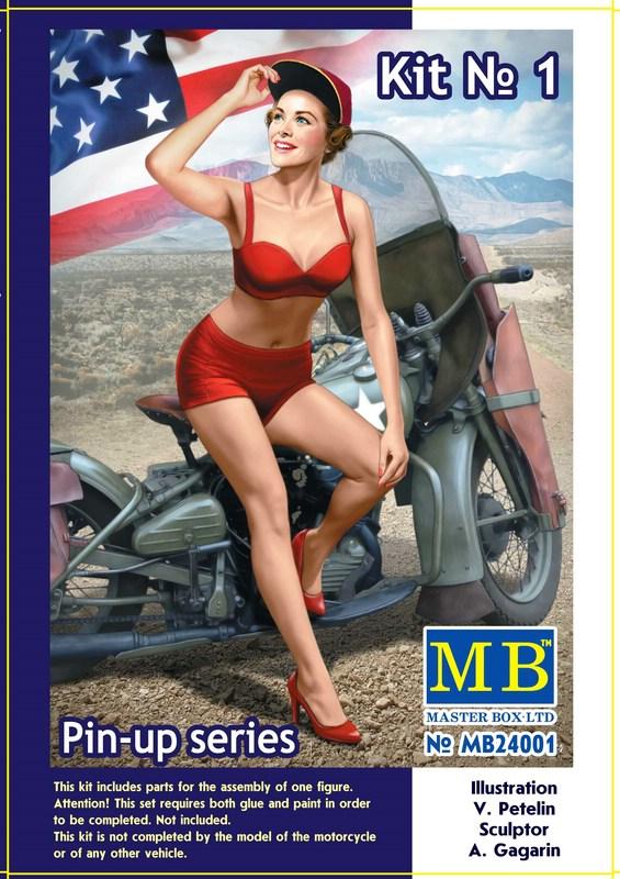"""MasterBox-24001-PinUp-Marylin-Deckelbild MasterBox neue """"Pin Up""""-Figuren im Maßstab 1:24"""