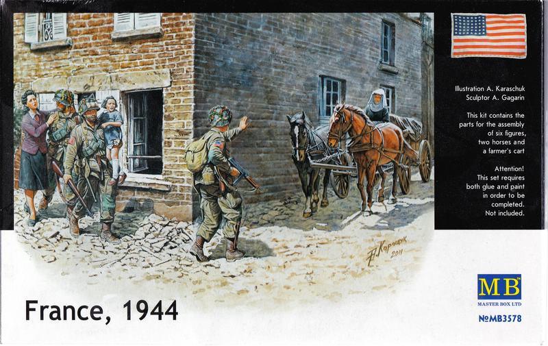 "MasterBox-3578-France-1944-14 ""France 1944"" - Vignette von Masterbox im Maßstab 1:35"