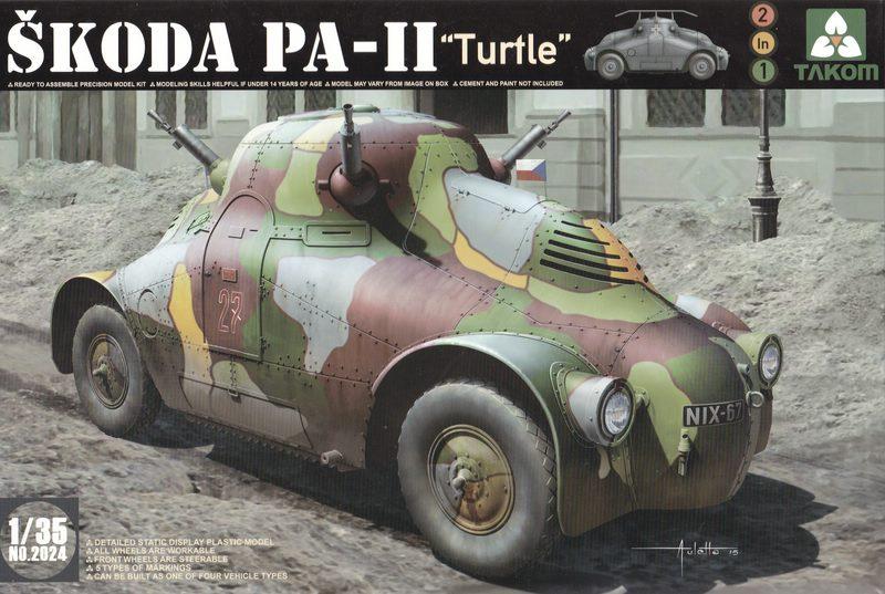 "TAKOM-Skoda-PA-II-23 Skoda PA-II ""Turtle"" von TAKOM im Maßstab 1:35"
